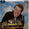 FRANK IFIELD I'LL REMEMBER YOU MONO  33SX 1467