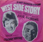 Julie Andrews Johnny Mathis 2 Hit Songs From West Side Story WB 725 Musical Winyl