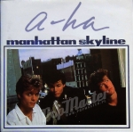 "A-HA Manhattan Skyline W8405W  Poster Sleeve, Silver Injection Labels  MINT 7"" synth-pop Winyl"