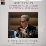 OTTO KLEMPERER PHILHARMONIA ORCHESTRA  BEETHOVEN SYMPHONE No.1 IN C MAJOR, No. 8 IN F MAJOR  ASD 2560