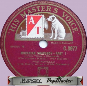 Ivor Novello With Harry Acres And His Orchestra  Muranian Rhapsody  C.3977