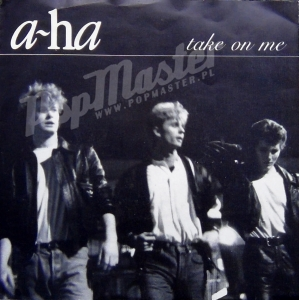 "A-HA Take On Me W 9006 7"" Cream Paper Labels and Original Picture Sleeve synth-pop Winyl"