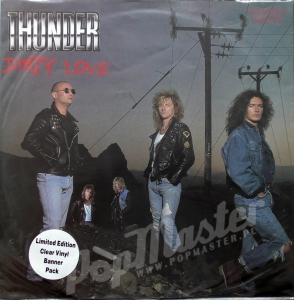 "Thunder Dirty Love Limited Edition Clear Vinyl Banner Pack 12"" 45 rpm Maxisingle 12 EMP 126 Vinyl Heavy Metal, Rock"