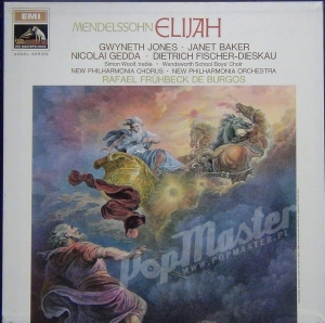 Mendelssohn Elijah Jones, Gedda, Baker, Fischer-Dieskau Wandsworth School Boys' Choir New Philharmonia Chorus And Orchestra Fruhbeck De Burgos SLS 935/3