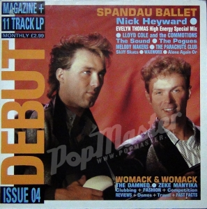 Debut issue 4 Magazine + 11 Track Lp The Pogues, Lloyd Cole, Melody Makers  DEBUT 4