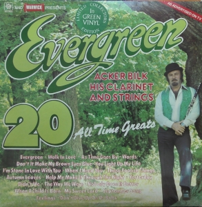 Acker Bilk His Clarinet And Strings ‎– Evergreen Warwick Records ‎– PW 5045