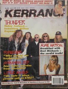 Kerrang!- No 348, 06.07.91 - Thunder, Foreigner, Little Angels etc.
