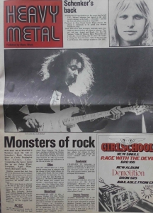 Heavy Metal Schenker's Back Published by Music Week August 18 1980