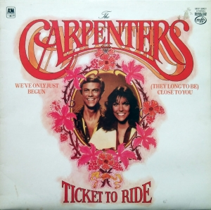 The Carpenters ‎– Ticket To Ride  Music For Pleasure ‎– MFP 50431