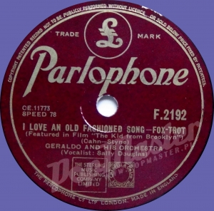 "Geraldo And His Orchestra I Love An Old Fashioned Song ""The Kid From Brooklyn"" F.2192 78 RPM SHELLAC"