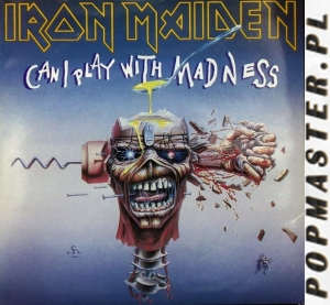 "Iron Maiden  Can I Play With Madness  EMI ‎– EM 49  Vinyl, 7"", Single, Silver label"