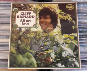 Schallplatten Cliff Richard ‎– All My Love,Music For Pleasure ‎– MFP 1420 Vinyl, LP, Album