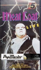 Meat Loaf Live  CFV 02402 VHS Video Cassette