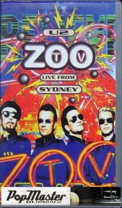 U2 ZOO TV Live From Sydney VHS Cassette  631 150-3