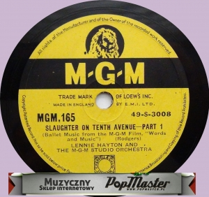 Lennie Hayton and The M-G-M Studio Orchestra Slaughter On Tenth Avenue Part 1 49-S-3008