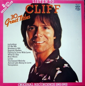 CLIFF RICHARD LISTEN TO CLIFF 30 GREAT TITLES ORIGINAL RECORDINGS 1961-1962 MFP 1011