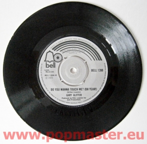 GARY GLITTER PAPA OOM MOW MOW BELL 1451 push out centre  7""