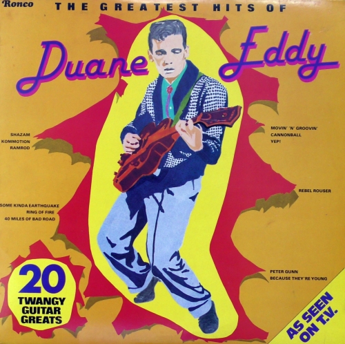 Disco de vinilo, вінілавыя пласцінкі, 黑胶唱片, Виниловые пластинки,Duane,Eddy,The,Greatest,Hits,Of,Duane,Eddy,Ronco,RTL,2035,Vinyl,LP,Compilation