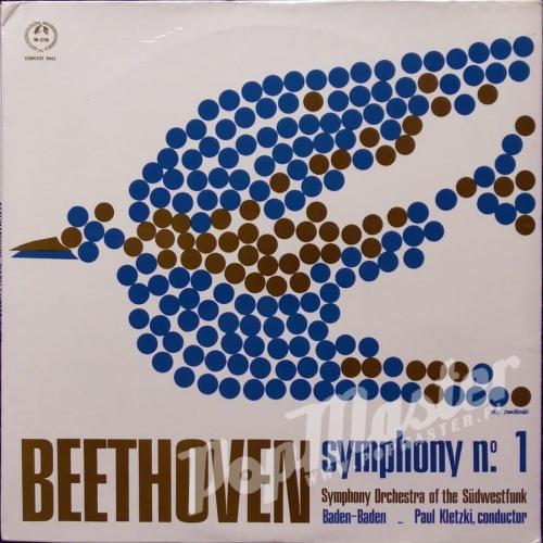 Paul Kletzki Symphony Orchestra Of The Südwestfunk, Baden-Baden Beethoven  Symphony No 1 In C Major, Op  21 CM 219