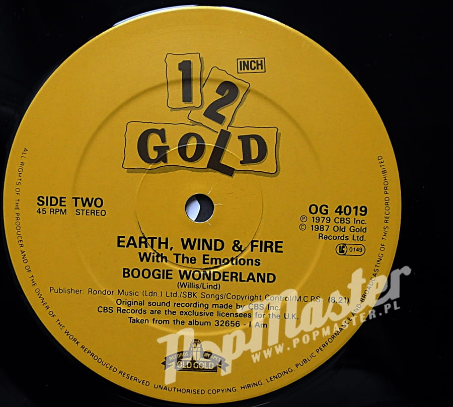 Earth Wind Amp Fire Let S Groove Boogie Wonderland Og 4019