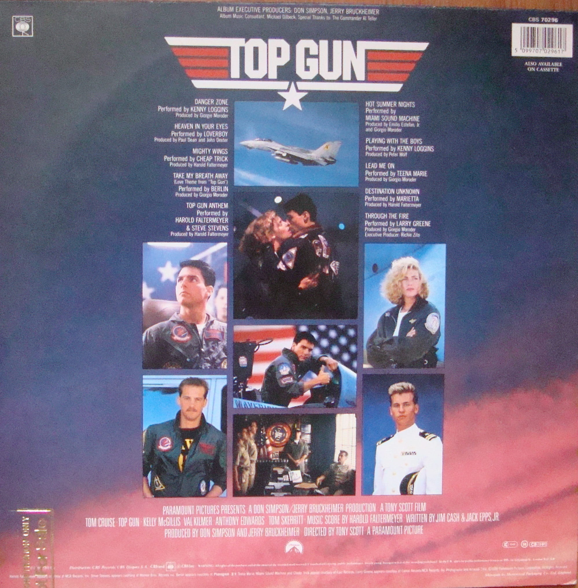 Top Gun Cbs 70296 Vinyl Promo Copy