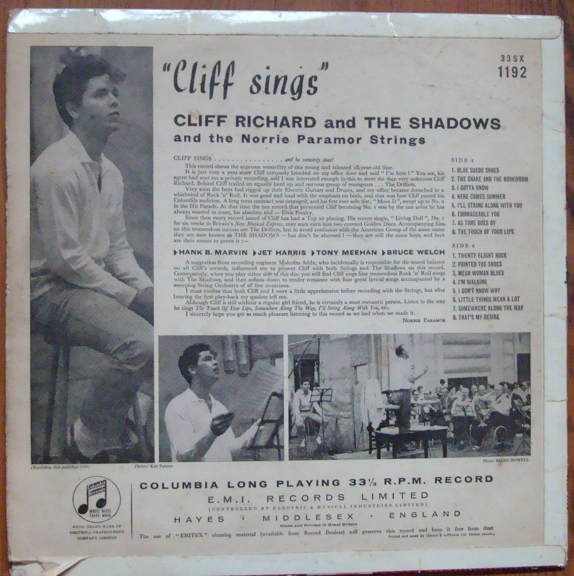 Cliff Richard And The Shadows And The Norrie Paramor