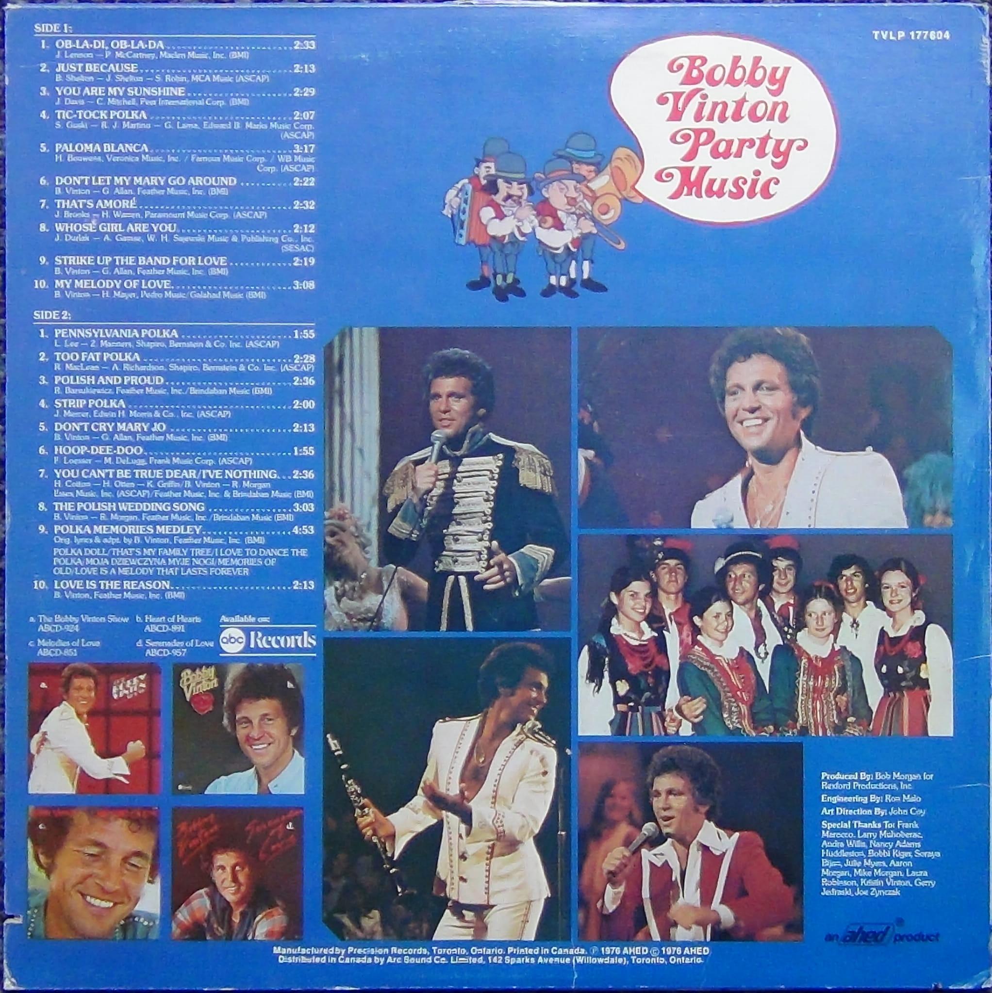 Bobby Vinton Party Music Tvlp 177604 Vinyl