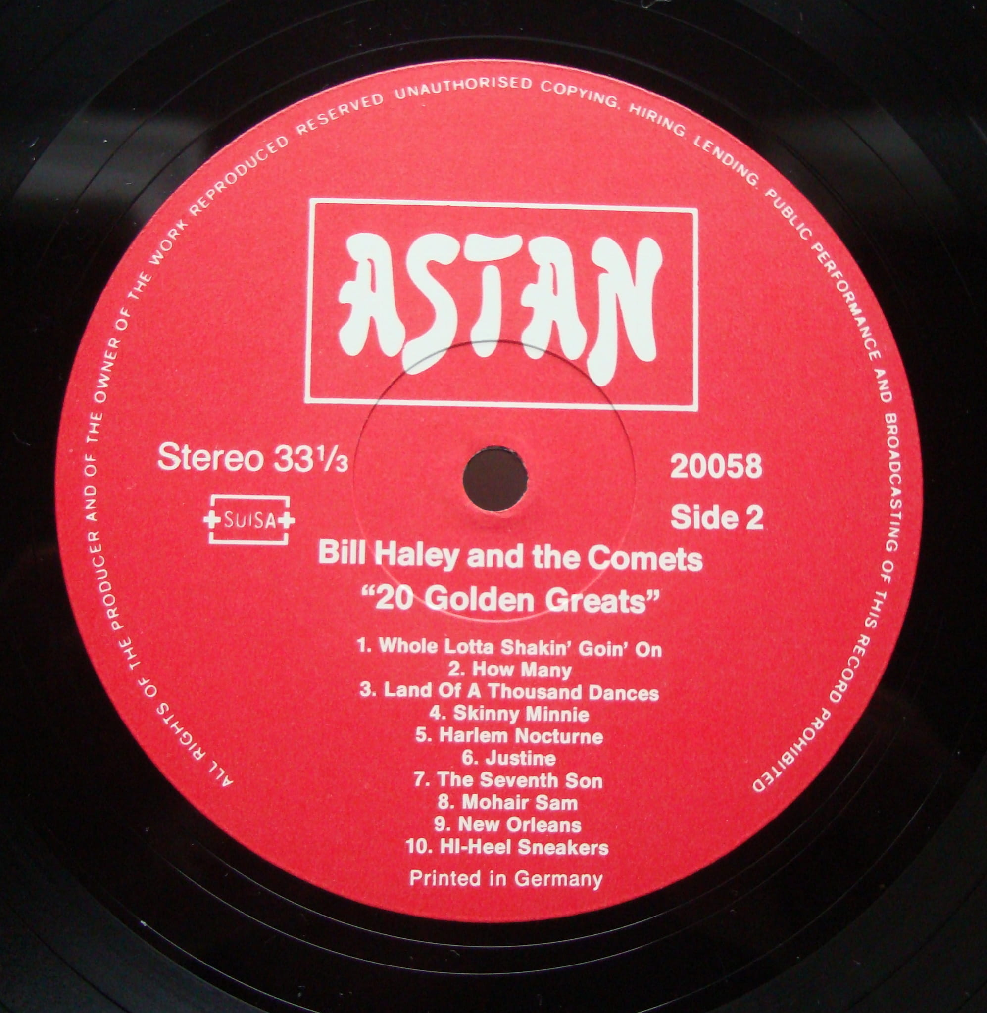 Bill Haley And His Comets ‎– 20 Golden Greats 20058 Rock,Rock & Roll Vinyl  Records