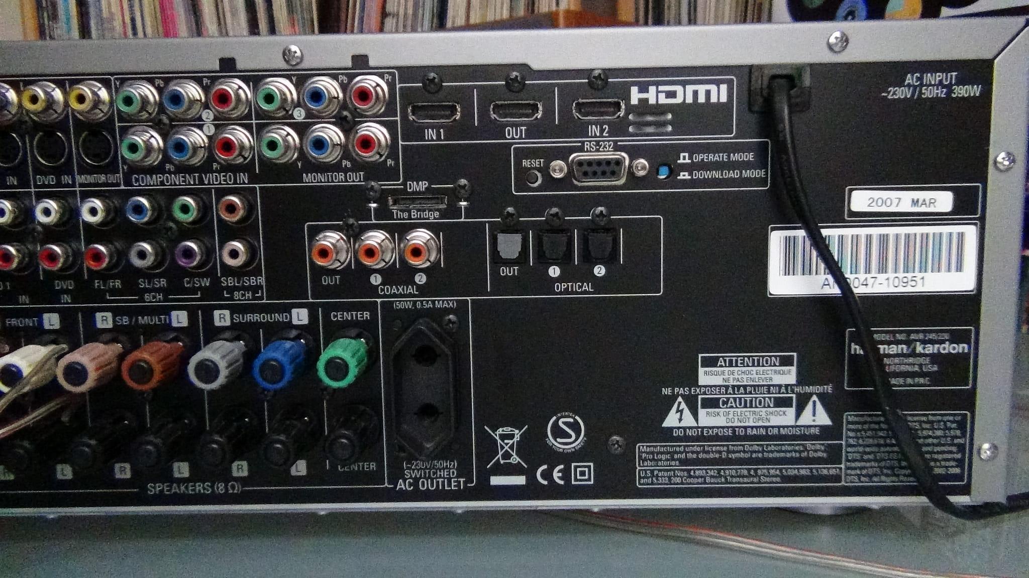harman kardon avr 245 7 1 channel audio video receiver. Black Bedroom Furniture Sets. Home Design Ideas